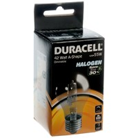 Duracell  Eco Halogen A Shape Light Bulb - 43W ES