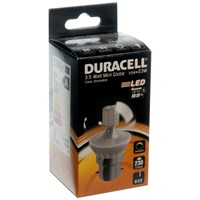 Duracell  LED Clear Mini Globe Light Bulb - 3.5W BC