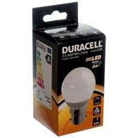 Duracell  LED Frosted Mini Globe Light Bulb - 3.5W BC