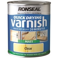 Ronseal  Quick Drying Varnish Matt - 250ml