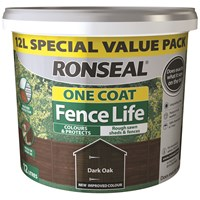 Ronseal  One Coat Fence Life - 12 Litre