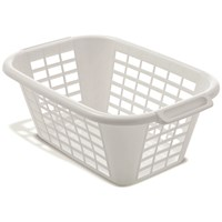 Addis  Rectangular Laundry Basket White - 40 Litre