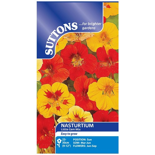 Suttons  Nasturtium Little Gem Mix Flower Seeds