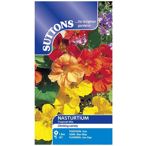 Suttons  Nasturtium Tropical Mix Flower Seeds