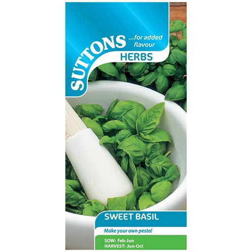 Suttons  Sweet Basil Vegetable Seeds