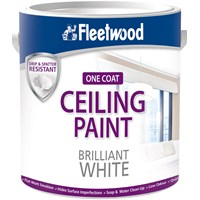 Fleetwood Ceiling Paint Matt Brilliant White Paint - 5 Litre
