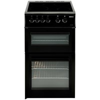 Beko  Freestanding Double Oven Electric Cooker with RapidLite Black - BDVC563AK