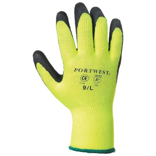Portwest  Thermal Grip Glove in Bag - Yellow & Black