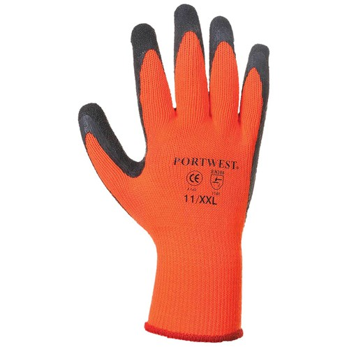 Portwest  Thermal Grip Glove in Bag - Orange & Black