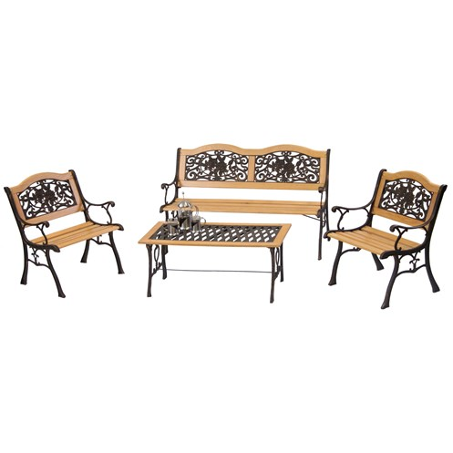Mercer Donard Rose Resin Garden Furniture Set