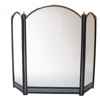 Crannóg  Arch Firescreen - Black & Antique