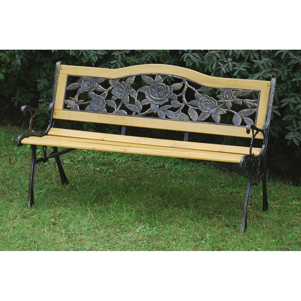 Courtyard Rose Bloom Garden Bench Benches Providers