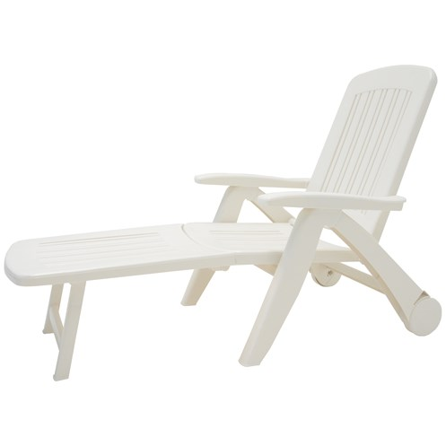 Culcita  Resin Sunlounger - White