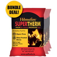 Supertherm Smokeless Coal 40kg - BUNDLE OFFER (4 X 40KG BAGS)
