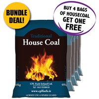 Traditional House Coal 40kg - BUNDLE DEAL - BUY 4 BAGS AND GET 1 BAG FREE